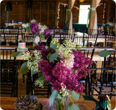 Wedding Flowers at Inn at Fogg Farm 1789 Gray Maine